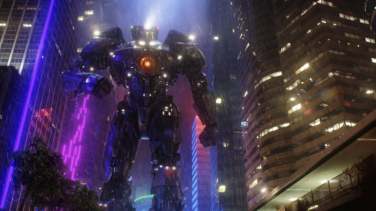 Este es #GipsyDanger, el #Jaeger que tendrán que pilotar #MakoMori y #RaleighBeckett para salvar a la humanidad del ataque de los #Kaiju. ¿Lo lograrán?