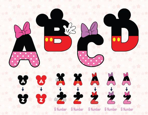 mickey mouse letters 26 mickey alphabet mickey clipart mickey font minnie by 23637