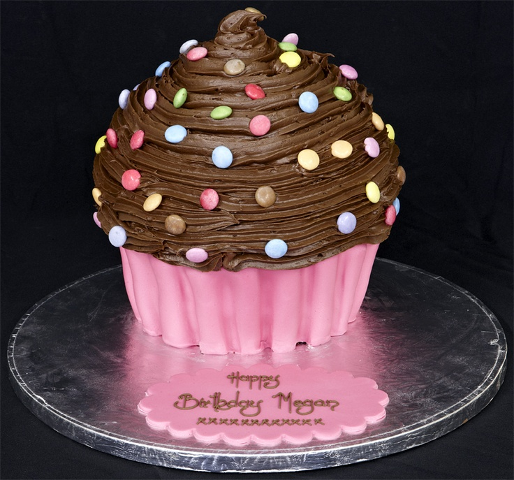 Pink and brown cupcake!