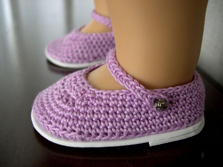 Knitting Pattern Dolls Shoes : 45 best Dolls Shoes Crochet & Knit images on Pinterest Doll shoes, Croc...