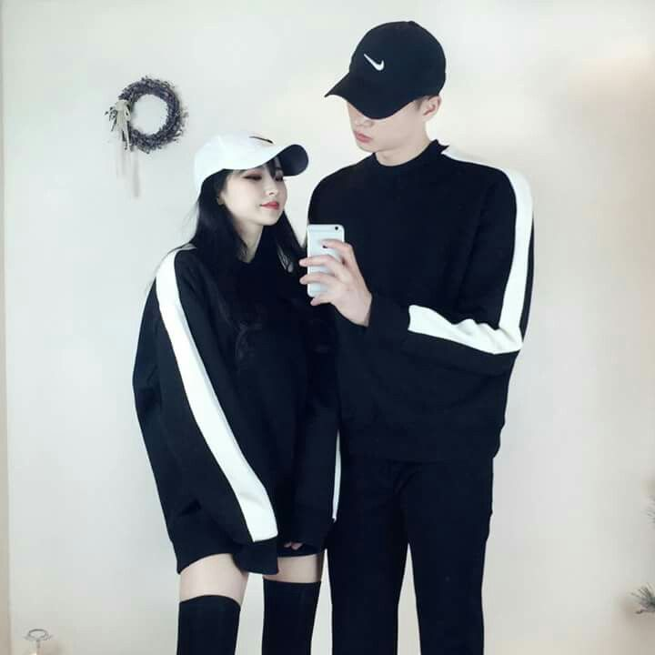 fancy ulzzang matching outfits hair