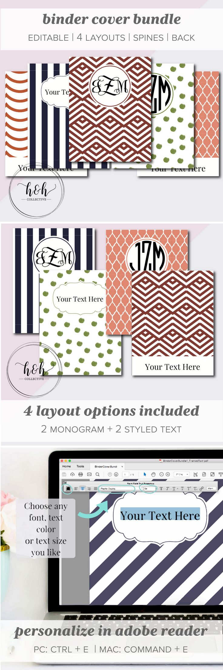 Who says binders have to be boring? Spice up your binders with these Editable and Printable Binder Covers - make custom binder covers that fit your style and personality!