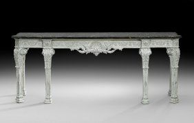 Lot: Louis XVI-Style Marble-Top Side Table/Server, Lot Number: 0142, Starting Bid: $1,200, Auctioneer: New Orleans Auction Galleries, Auction: New Orleans Auction July Sale: Day 1 of 2, Date: July 26th, 2014 COT