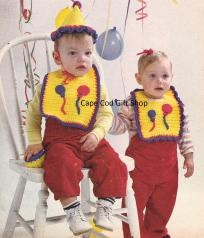 Baby's First Birthday Crochet Pattern Set ~ Free Shipping $2.99  This is for a his and her's bib, hat and cupcake crochet pattern set.