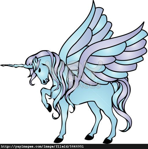 Unicorn With Wings Tattoo Outline Drawing And Coloring For Kids KK