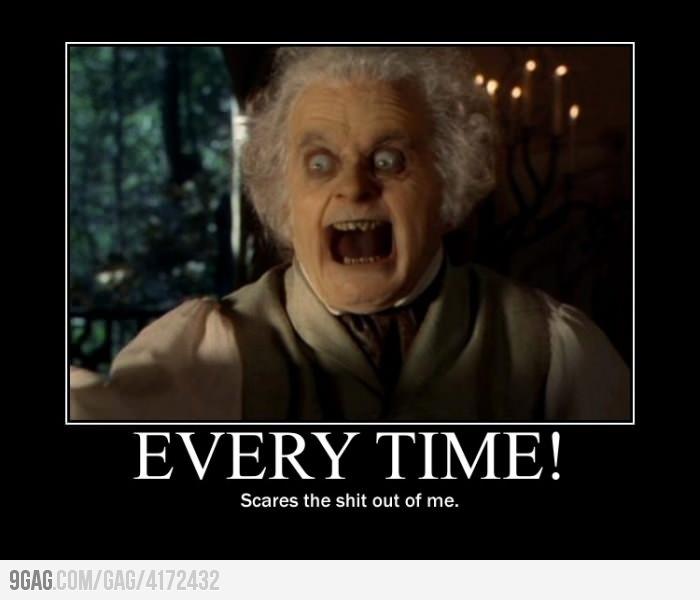 BIlbo being Baggins: