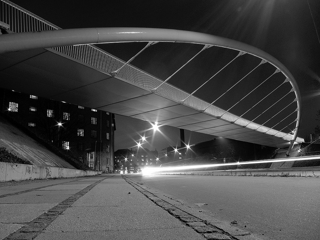 The (relatively) new bicycle bridge connecting the districts of Nørrebro and Frederiksberg.