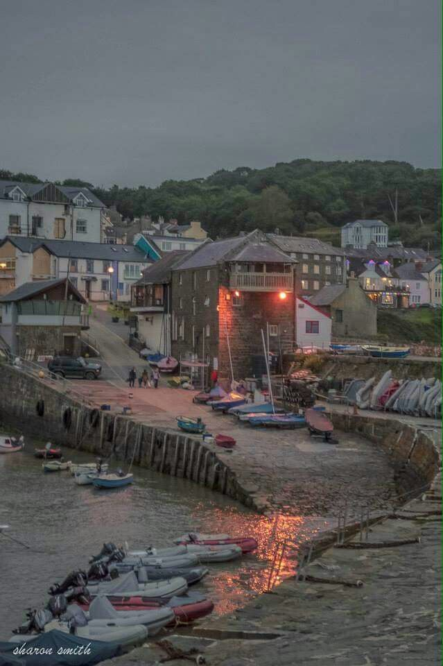 New Quay harbour, Ceredigion, West Wales, UK