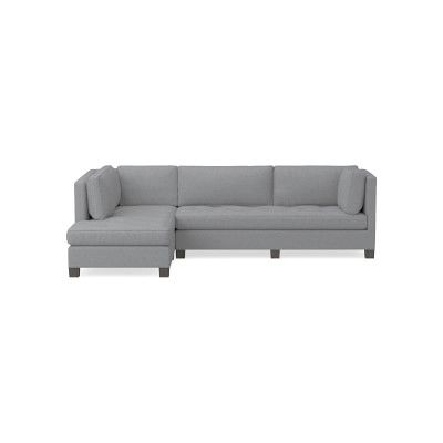 Wilshire Sectional Left 2 Piece L Shape Sofa With Chaise Down Cushion Perennials Performance Canvas Charcoal Grey Leg L Shaped Sofa Sofa Sectional Sofa