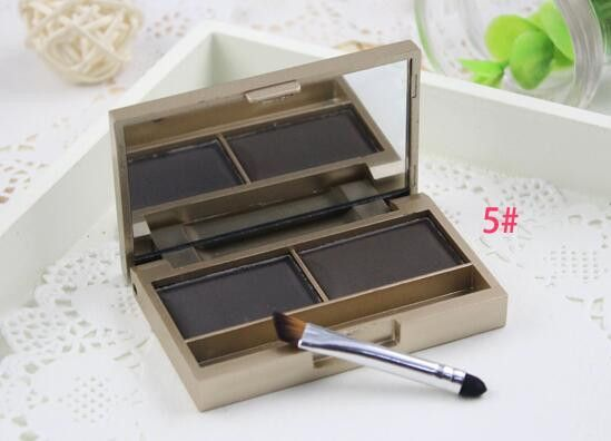 Brand Eyebrow enhancer professional eye brow makeup 2 color waterproof eyebrow powder eye shadow eyebrow make up palette set kit