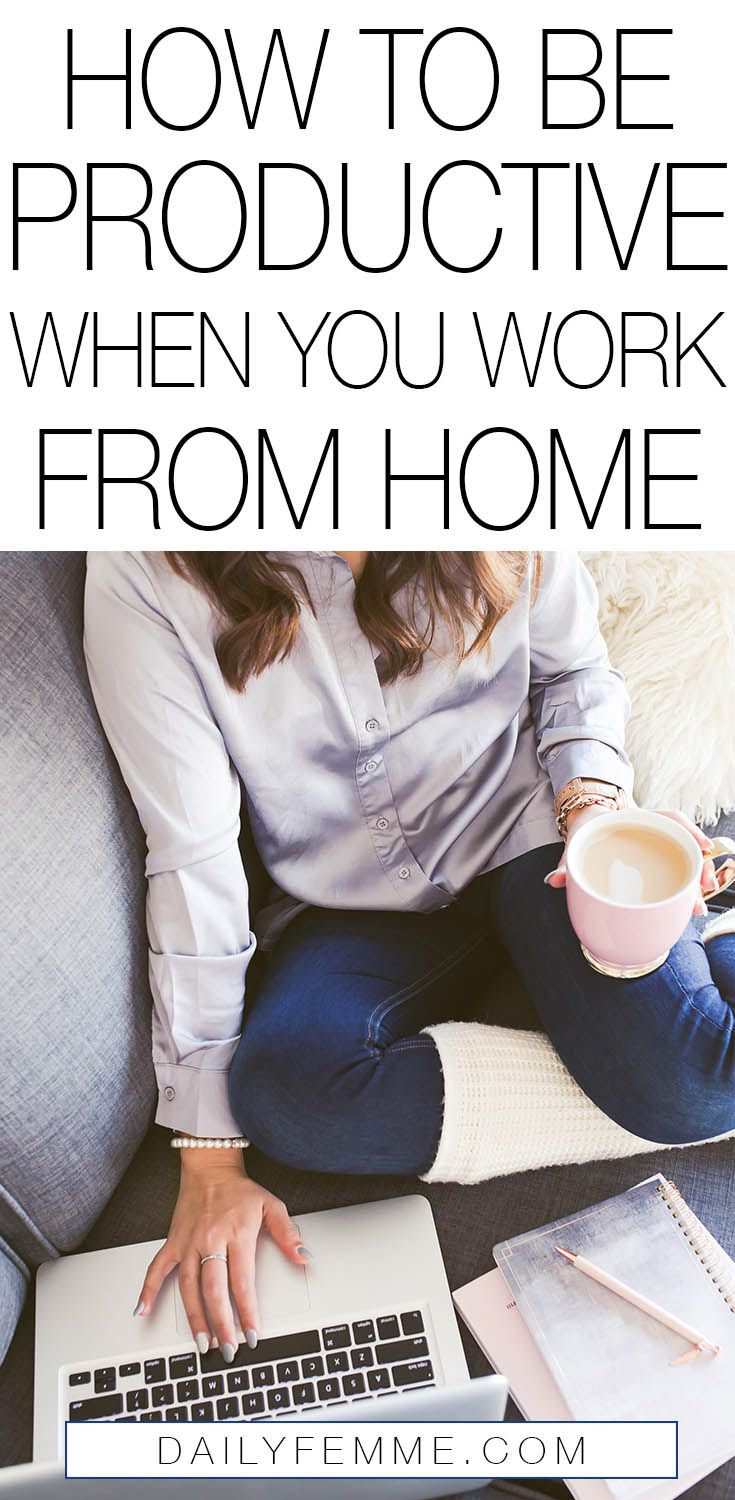 The ability to work from home is something that so many of us aspire to, but staying productive can be a challenge. Here's some tips to make it work for you.
