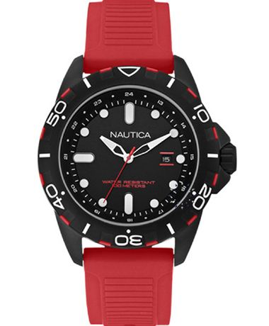 NAUTICA NSR 102 Red Rubber Strap Η τιμή μας: 126€ http://www.oroloi.gr/product_info.php?products_id=38333