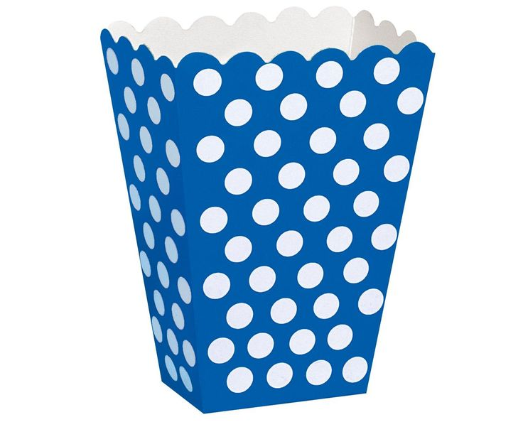 Blue Dot Treat Boxes from BirthdayExpress.com