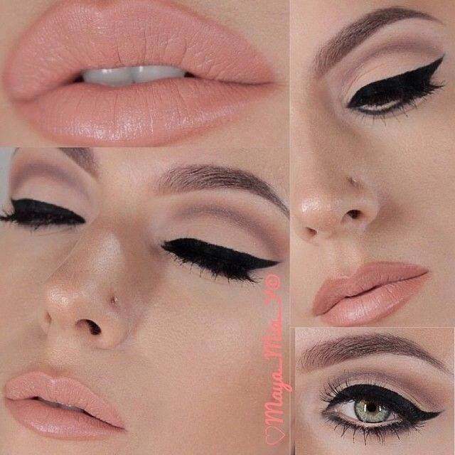 Make up ideas, strong eyes with softer lips, the idea is to keep a vintage film star look