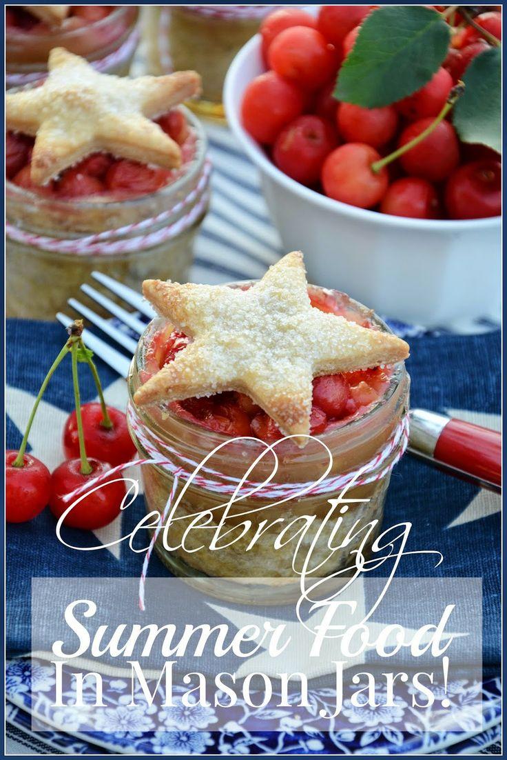 Food just tastes better in Mason jars! Get lots of ideas and recipes! stonegableblog.com