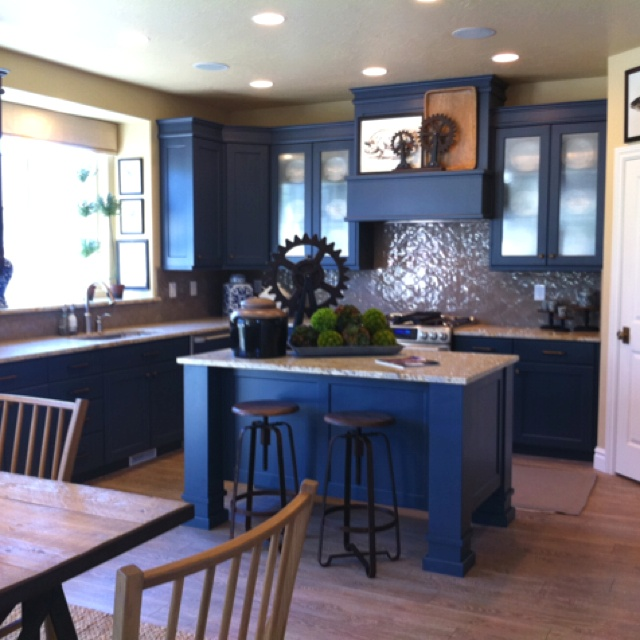 Indigo Blue Cabinets From Parade Of Homes