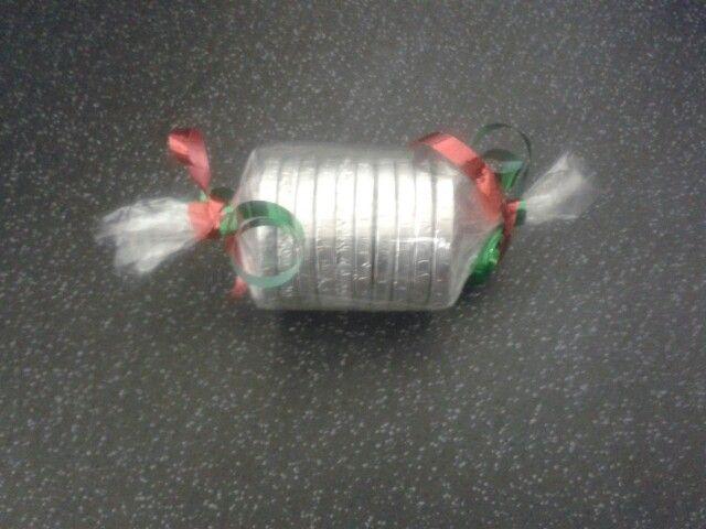 Chocolate coin christmas cracker!
