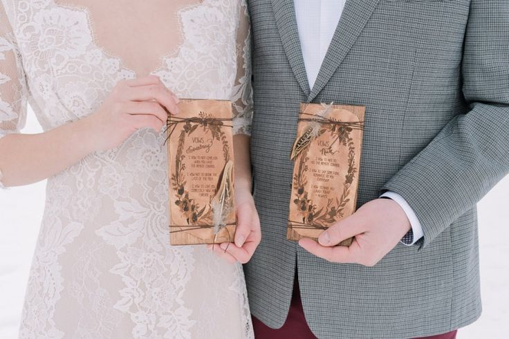 Boho-Chic-winter-wedding | Photo by Darren Roberts Photography | Custom vow books by  + Design by Naturally Chic | Willow Flower Co. | Mountain Beauties | Canmore + Banff Makeup Artistry | Whippt Desserts + Catering Inc. | Courtney Mark _ Sophia Models International #bohowedding #bohemianwedding #vowbooks
