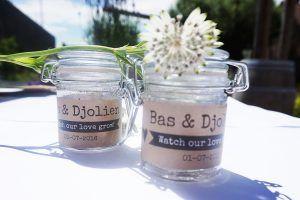 Bas & Djolien Huwelijks Bedankjes #cortinedesign #Weckpotjes #trouwen #wedding #bedankje #weddinggift #kraft