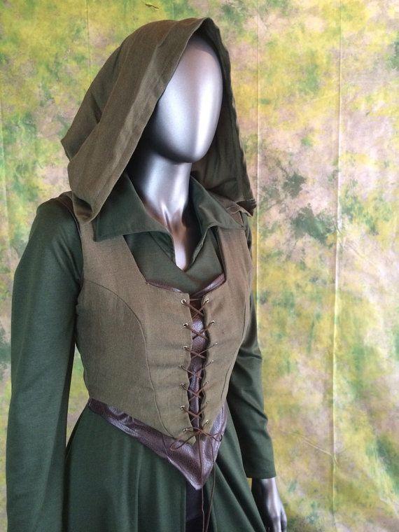 Tauriel Hobbit Cosplay Costume--- Elf Cosplay, Archer, The Hobbit, Full Costume Set--- Custom made on Etsy, $250.00