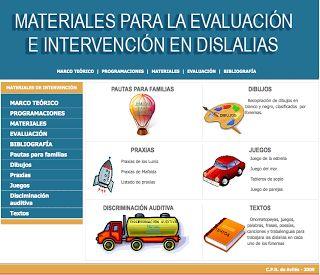 Materiales para la evaluación de dislalias
