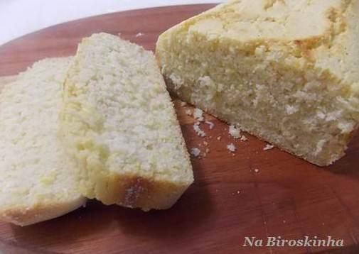 Pão de Milho Sem Glúten e Sem Lactose - Na Biroskinha