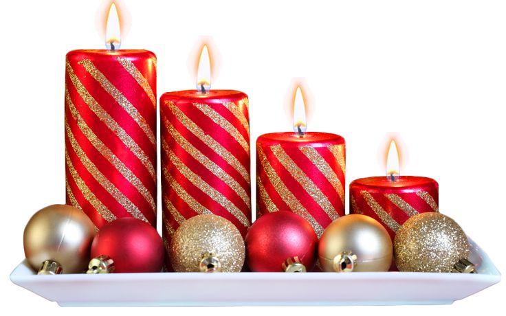 Adornos con velas y bolas para navidad con fondo - Adornos navidenos con velas ...