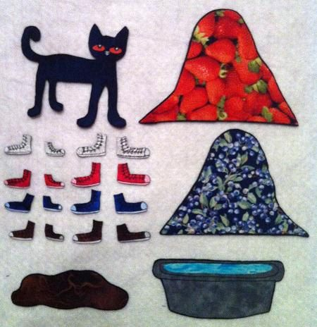 Pete the Cat I Love My White Shoes Flannel Felt by DMCraftDesigns   20    Pete The Cat I Love My White Shoes