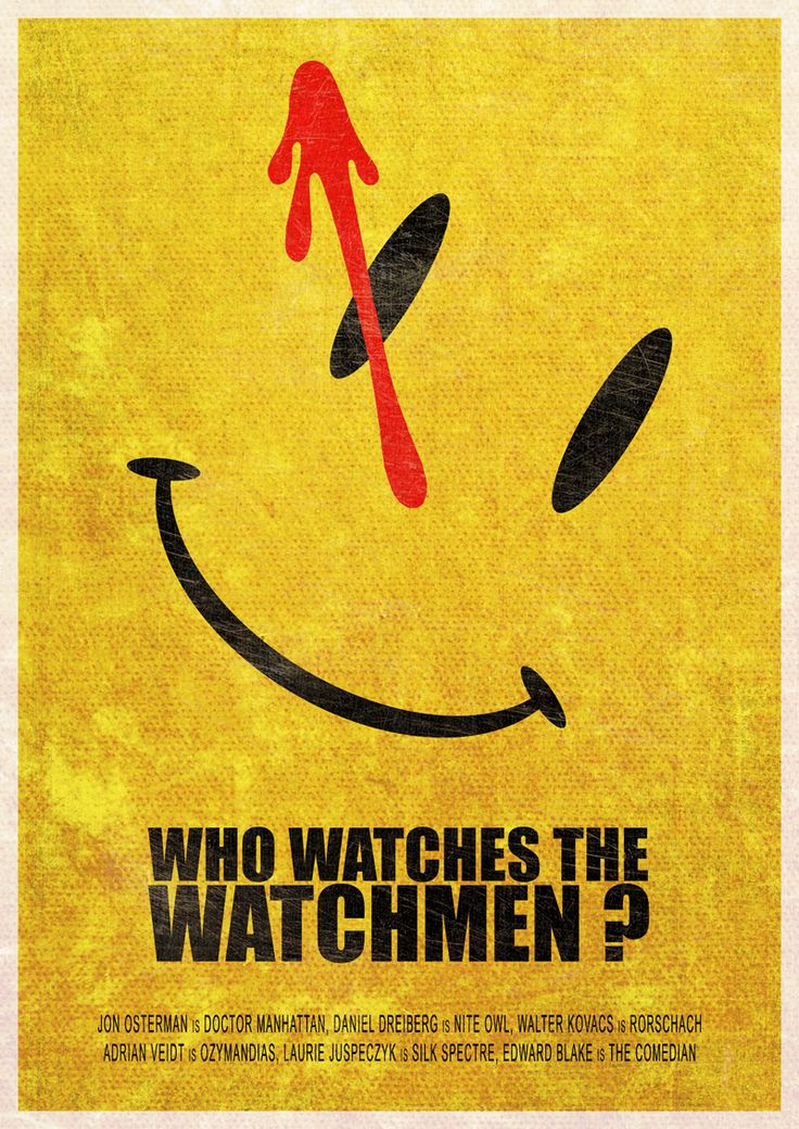 #Superheros #Minimalist posters: Who watches the #Watchmen ?