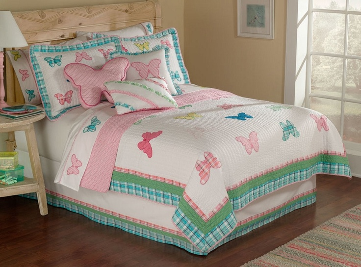 Plaid Butterfly Quilt and Pillow Sham