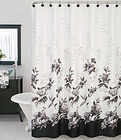 Lenox moonlit garden shower curtain dillards the style of the home pinterest gardens for Dillards bathroom accessories sets