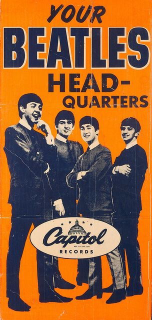The Beatles Capitol Records Over-sized Promotional Poster #Beatles #TheBeatles…