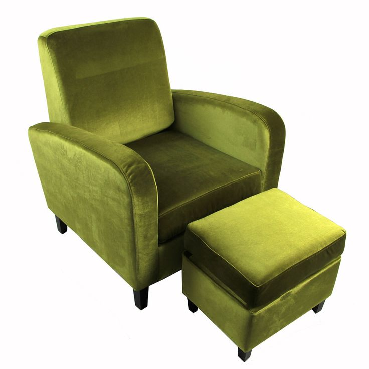 Home Couture Armchair U0026 Ottoman Home Furniture Set   Green Velvet | Buy  Sofa U0026 Arm Chairs Online   Oo.com.au | Lounge | Pinterest | Green Velvet,  Armchairs ...