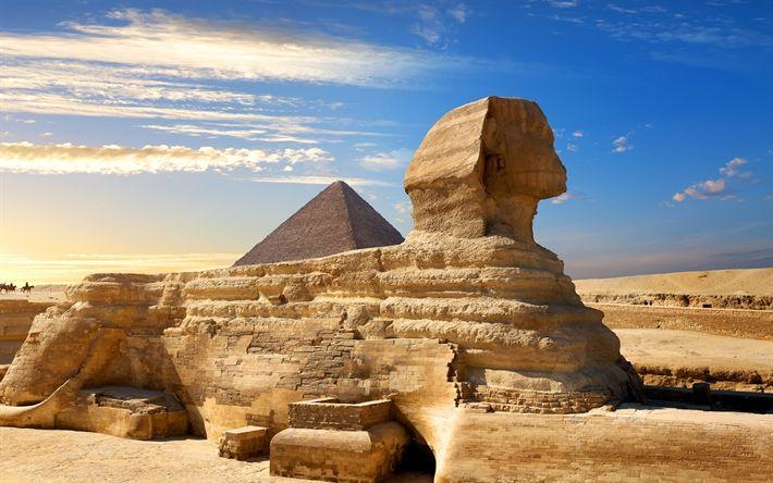 Lataa kuva Sfinksi, pyramidit, desert, Kairo, Egypti
