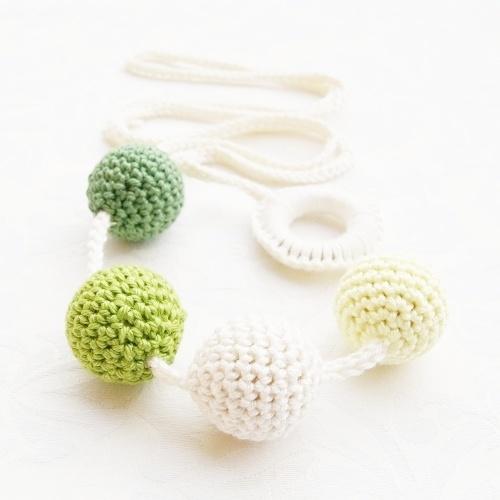 "Babahami Horgooka ""Zöld"" creative mummy lace, teething necklace"