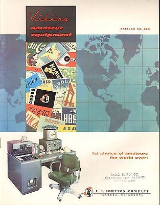 E.F. Johnson Company Viking Amateur Equipment Catalog No. 959 for Ham Radio