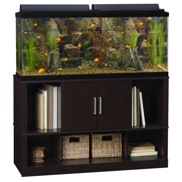 Top fin open close storage aquarium stand aquarium for Petsmart fish tank decorations