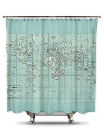 best shower curtains. Pillow By Catherine Holcombe Fabric Shower Curtain \u2013 Showercurtainhq.com #map #blue # Best Curtains E