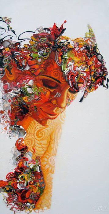 Body Talk - Inner Happiness, 160x80x4 cm
