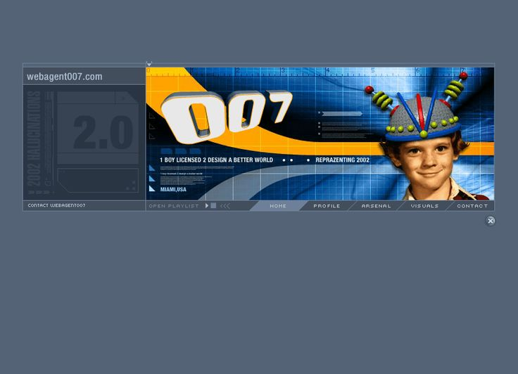 Web Agent 007 website in 2001