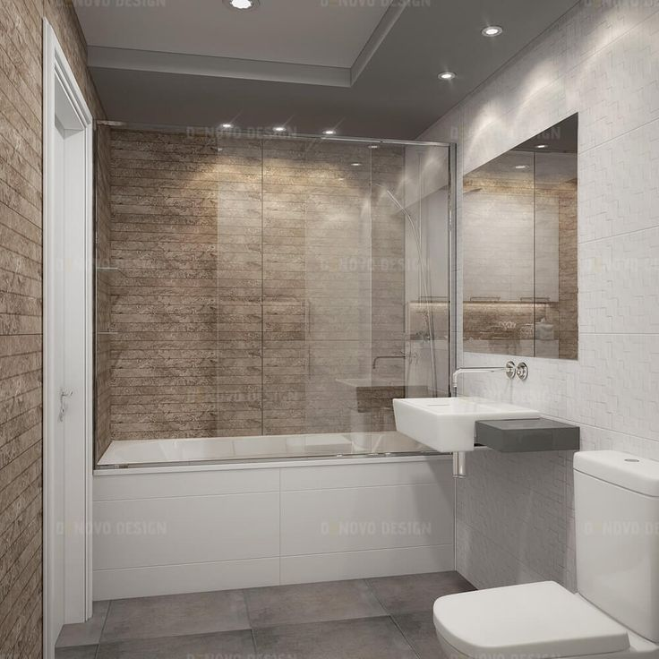 acrylic panels for bathroom walls%0A White beige master bathroom with flat panel cabinets  Materials  white   beige wall ceramic tile and grey floor tile