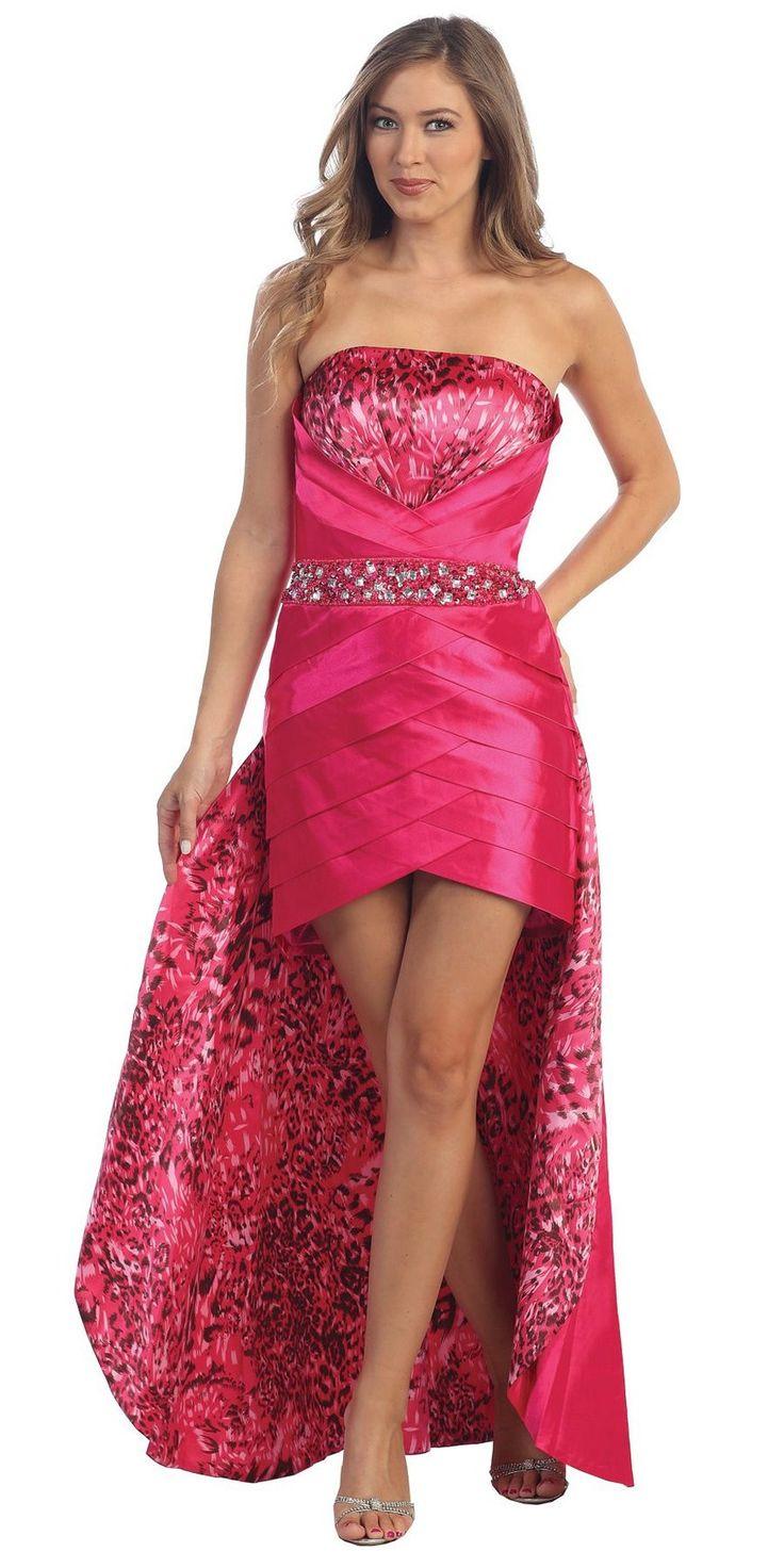 Best 25 animal print ball dresses ideas on pinterest elegant strapless high low gold cheetah animal print dress pleated skirt ombrellifo Choice Image