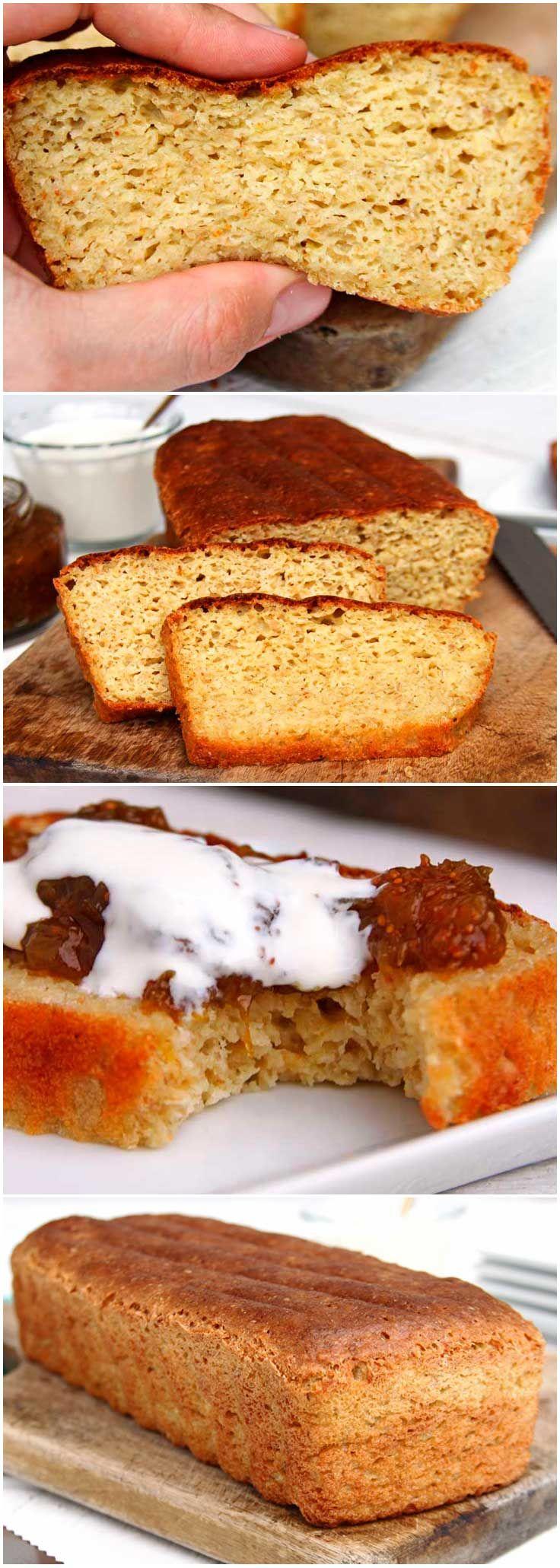 Pão caseiro funcional pra comer sem culpa! Esta receita de Pão Caseiro é fácil, super saudável, sem glúten, sem lactose e feito no liquidificador.