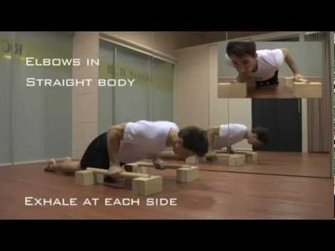 This parallettes exercise workout routine will build shoulder strength and a super solid core.