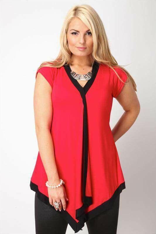 Blusa roja, bella!