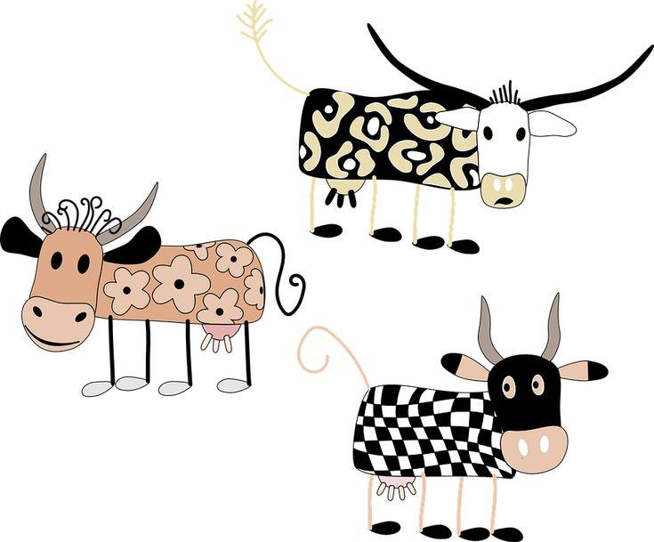 Коровы, Милый, Смешные, Животные, Ферма, Молоко