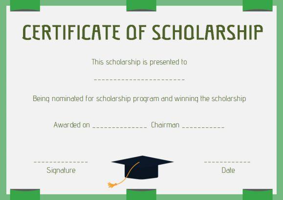 scholarship award certificate template word Scholarship