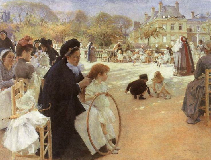 In the Luxembourg Garden, Albert Edelfelt This is one of my favourites!