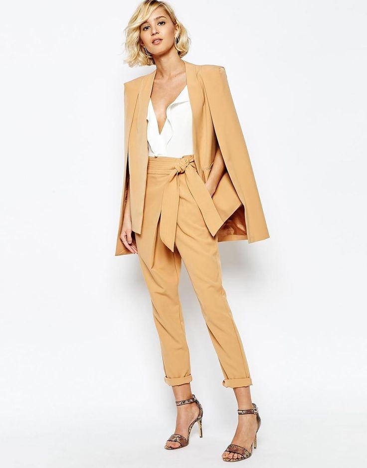 Lavish Alice | Lavish Alice - Pantaloni con incrocio e cintura a fascia annodata su ASOS
