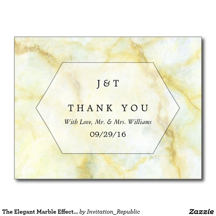 The Elegant Marble Effect Wedding Collection Postcard